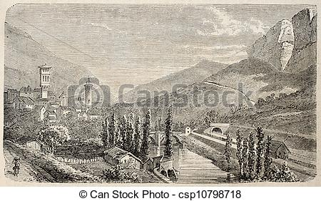 Clipart of Saint Antonin Noble Val.