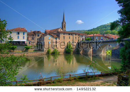 Saint Antonin Noble Val Stock Photos, Royalty.