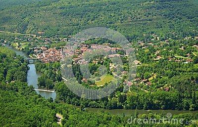 Saint Antonin Noble Val. Francia Royalty Free Stock Photo.