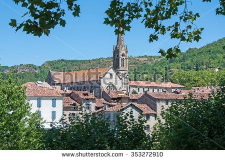Saint Antonin Noble Val Stock Photos, Royalty.