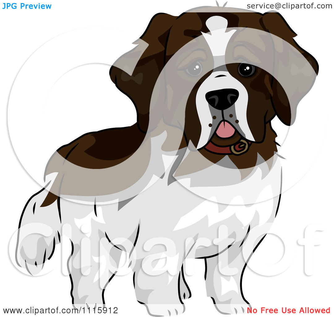 Saint Bernard Rescue Clip Art.
