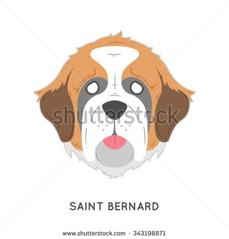 Saint Bernard Dog Stock Vectors, Images & Vector Art.