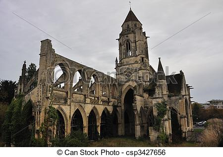 Stock Image of Ruined church of St.
