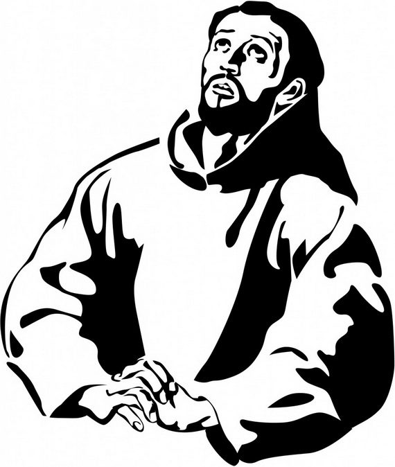 St. Francis of Assisi Coloring pages for Catholic Kids.