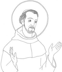 saint francis of assisi coloring page.
