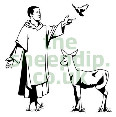 St francis clip art.