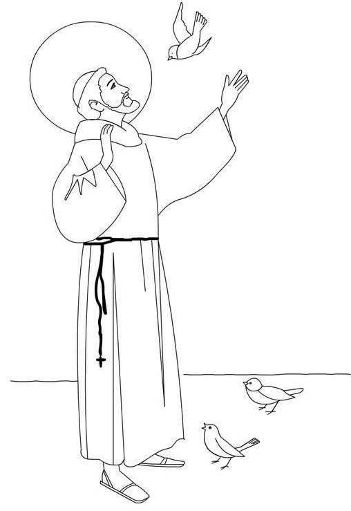 Vie & coloriages de st François d'Assise (1181.
