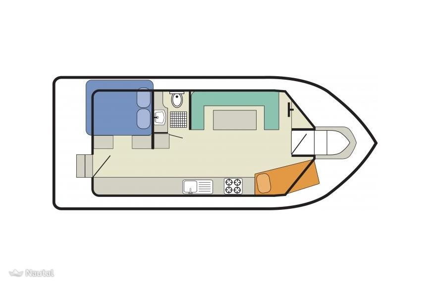 Houseboat rent Custom Cirrus B in Saint Gilles, Gard.