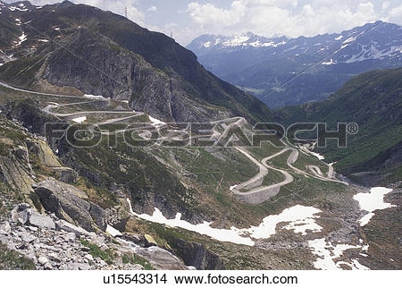 Stock Photo of Switzerland, Ticino, Alps, Val Leventina, St.