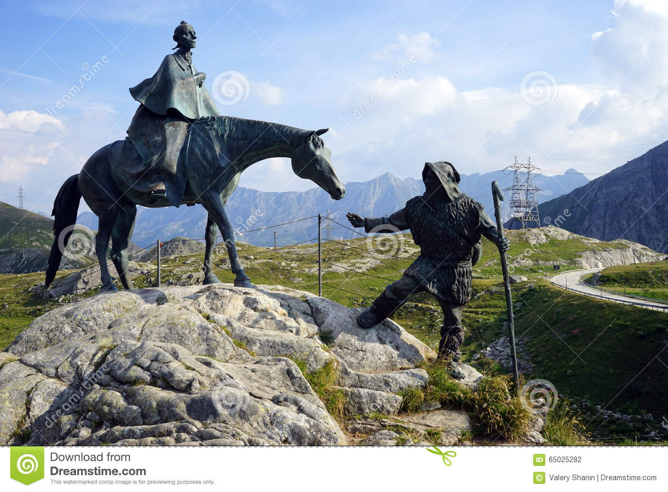 Statue Of Saint Gotthard Royalty Free Stock Photos.