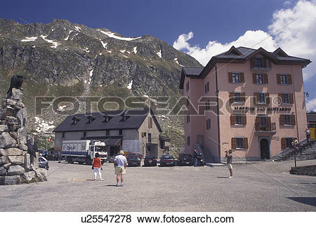 Pictures of Switzerland, Ticino, Alps, Saint Gotthard Pass Road.
