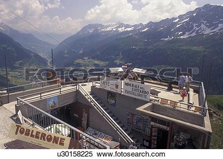Stock Image of overlook, Switzerland, Alps, Ticino, Val Leventina.