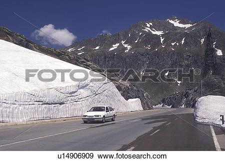 Stock Photograph of Switzerland, Ticino, Alps, Saint Gotthard Pass.