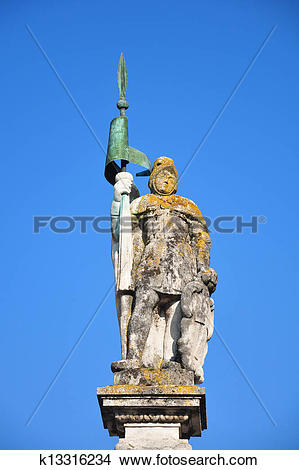 Stock Photo of Statue Saint Jacob in Straubing, Bavaria k13316234.