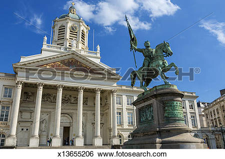 Stock Images of Brussels, Church of Saint Jacques sur Caudenberg.