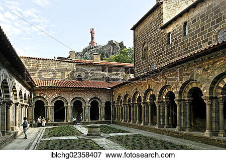"Picture of ""Cloister of cathedral Notre Dame, Le Puy en Velay."