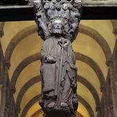 Stock Photo of Statue of St. Jakob in cathedral, Cathedral of.