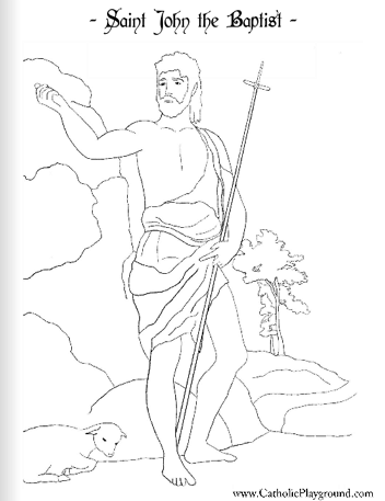 Saints Coloring Pages.