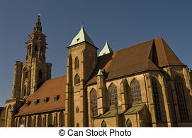Stock Photos of Church of Saint Kilian in Heilbronn, Germany.