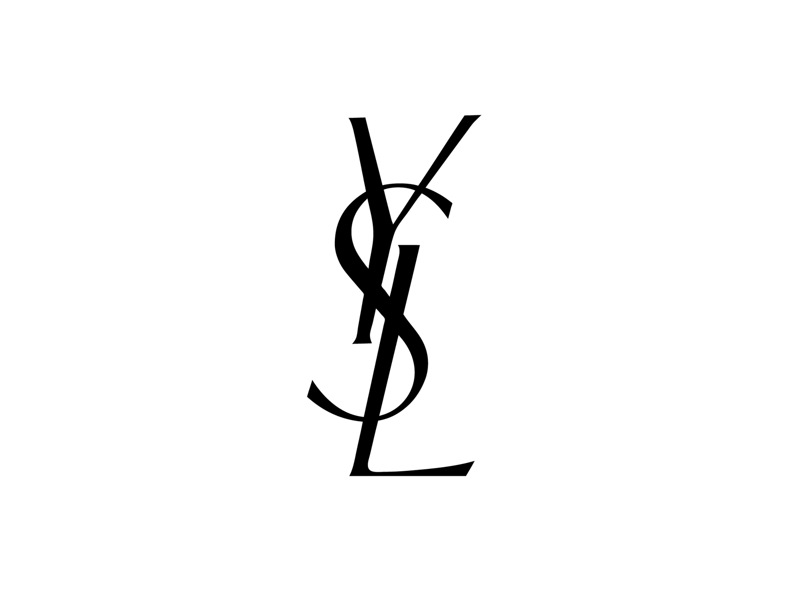 Yves Saint Laurent Logo transparent PNG.