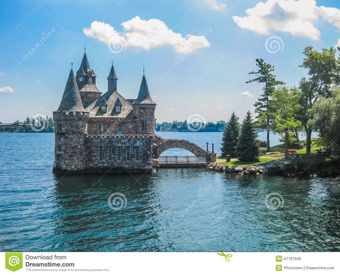Castle On St. Lawrence River, Canada Stock Photos.