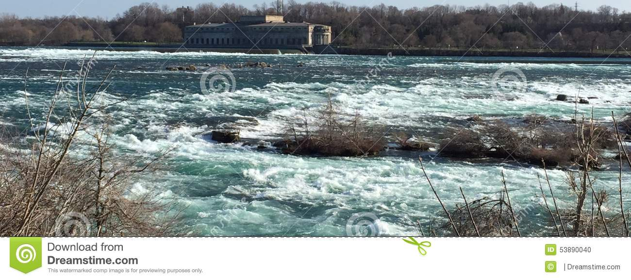 Rapids Of The St. Lawrence River Stock Photo.