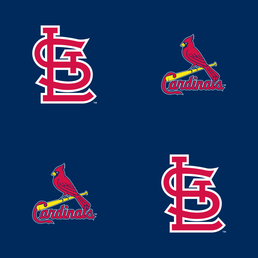 St. Louis Cardinals: Logo Pattern (Blue).