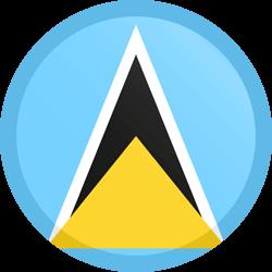 Saint Lucia Flag Clipart.
