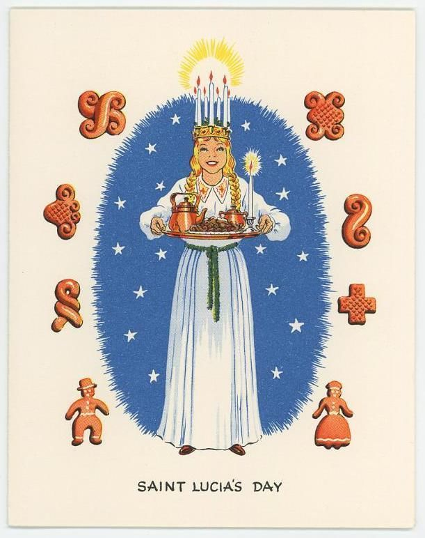 St lucia day clipart.