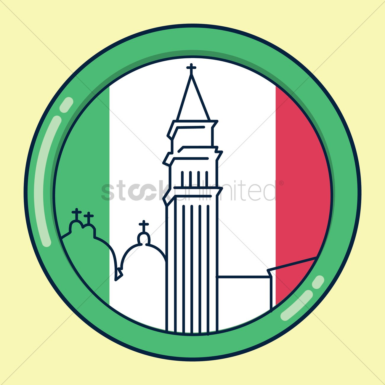 Free St. mark's square tower Vector Image.