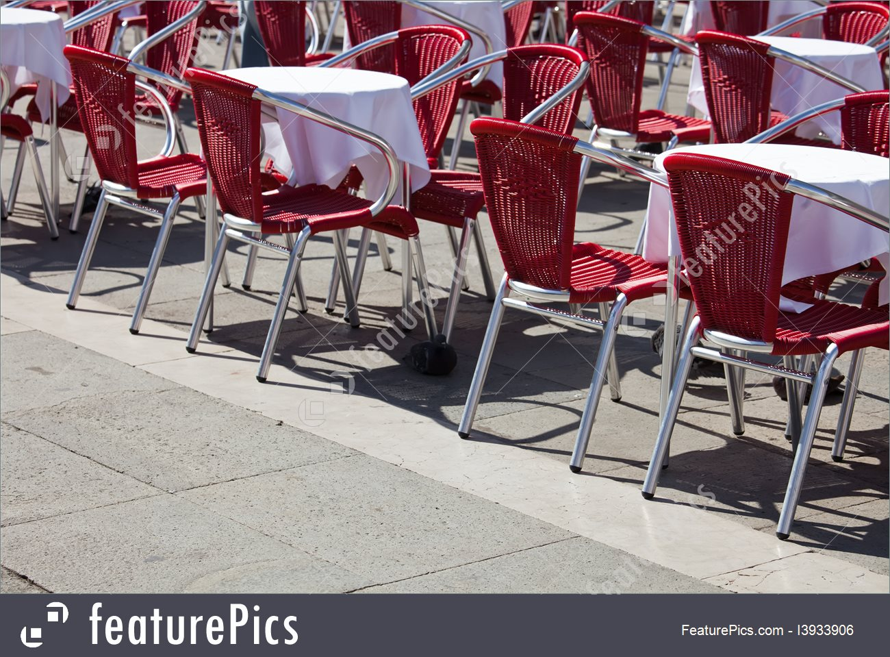 Furniture : Cute Cafe Tables And Chairs Standing On Saint Mark.