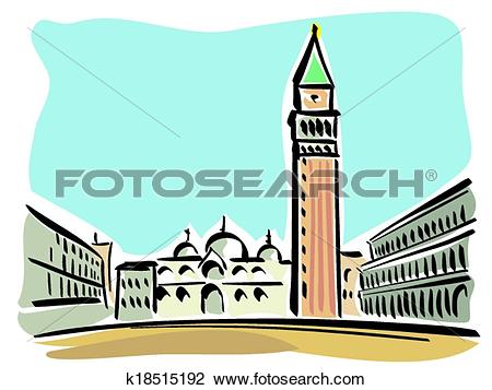 Clipart of Venice (St. Mark's Square) k18515192.