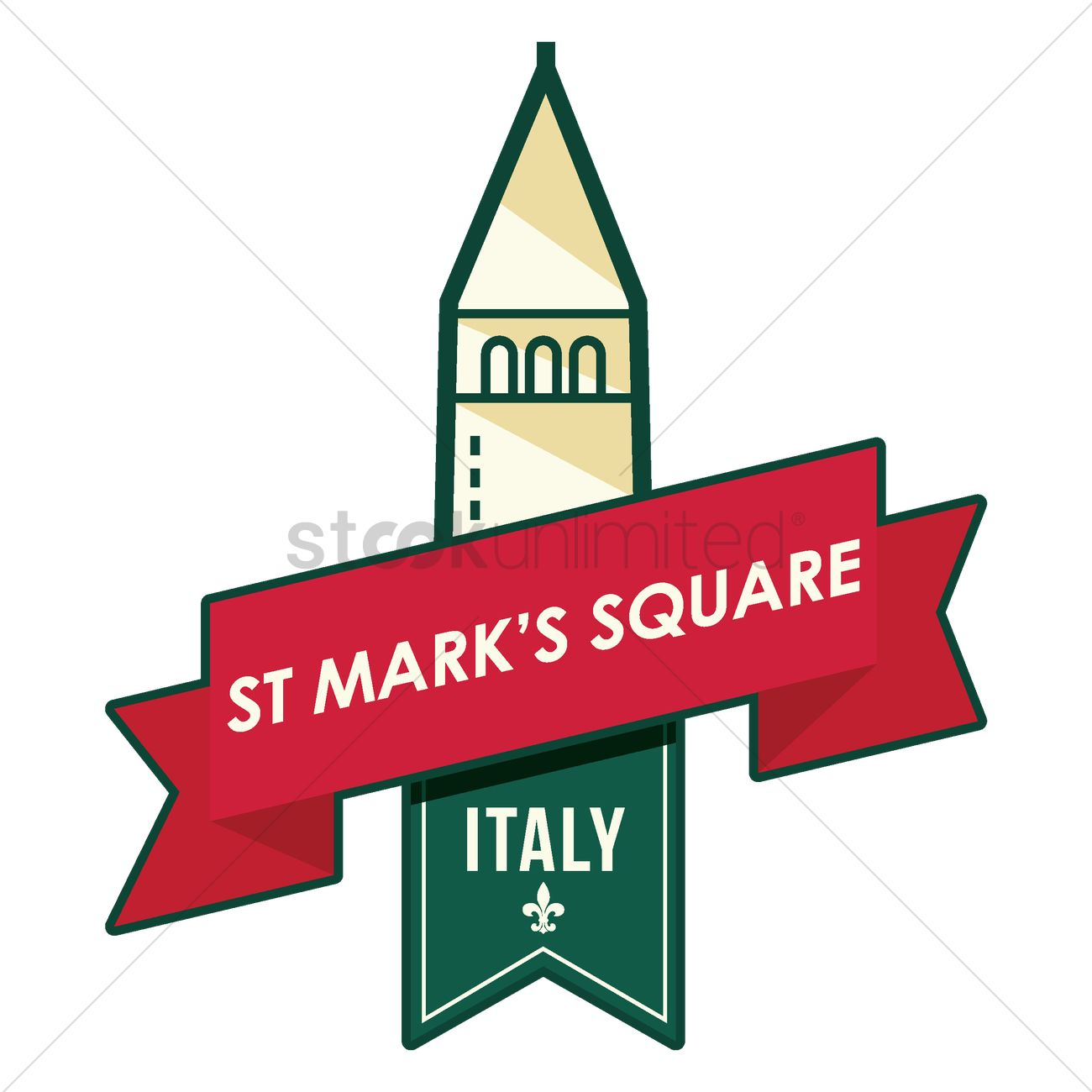 St. mark's square Vector Image.