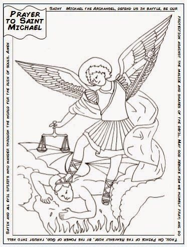 St Michael the Archangel Catholic Coloring Page.