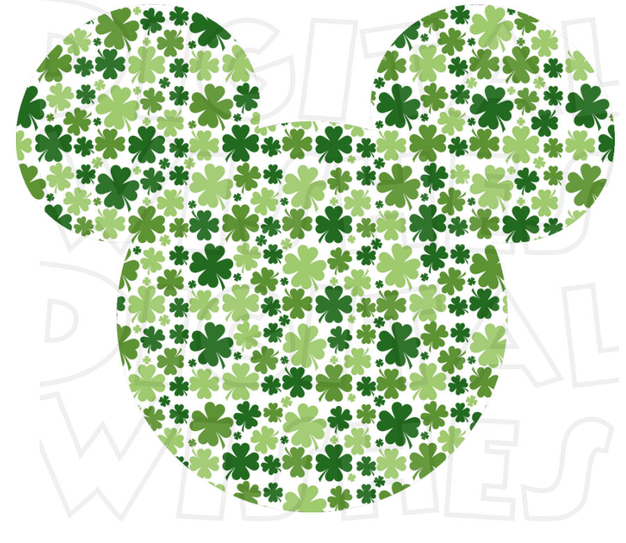 Saint Patricks Day Mickey And Minnie Clipart.