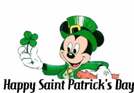 Mickey St Patrick's Day.