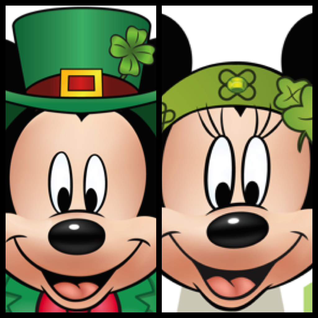 My Disney Life: Mickey and Minnie St. Patrick's Day Printables.