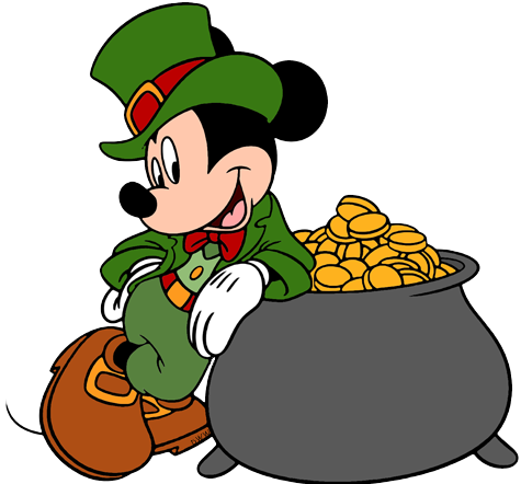 saint patricks day mickey and minnie clipart 20 free ...