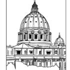 In a cross section of St Peters dome in Rome, you can see how.