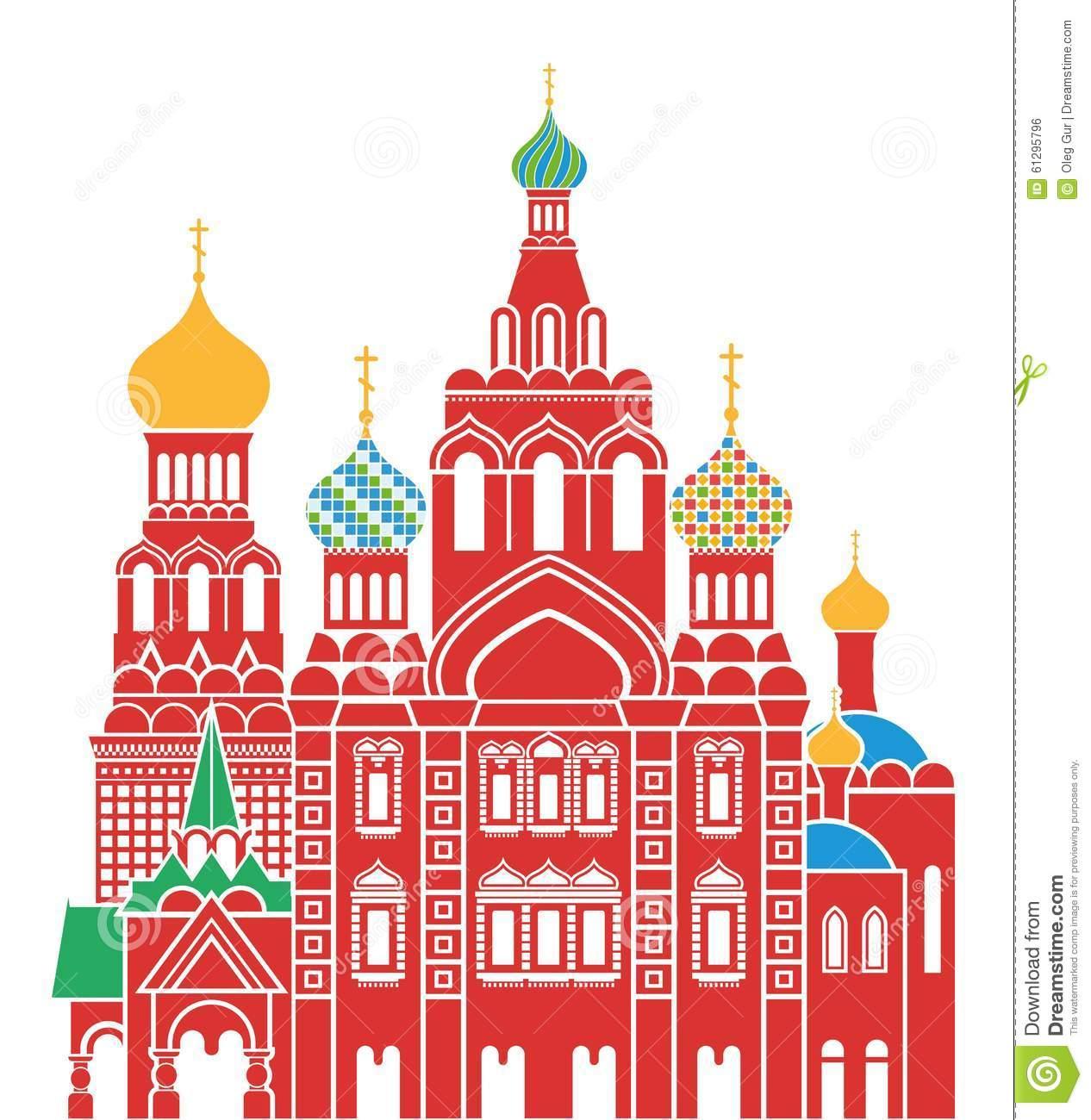Saint Petersburg Stock Vector.