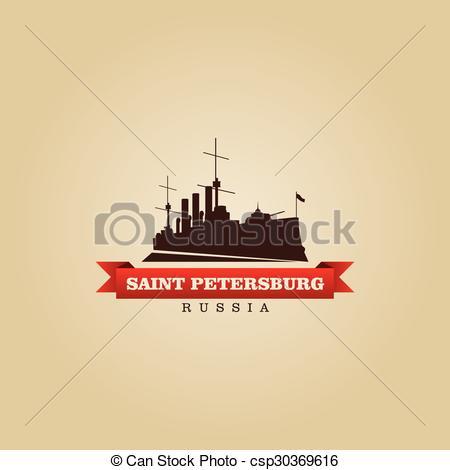 Vector Clip Art of Saint Petersburg Russia city symbol vector.