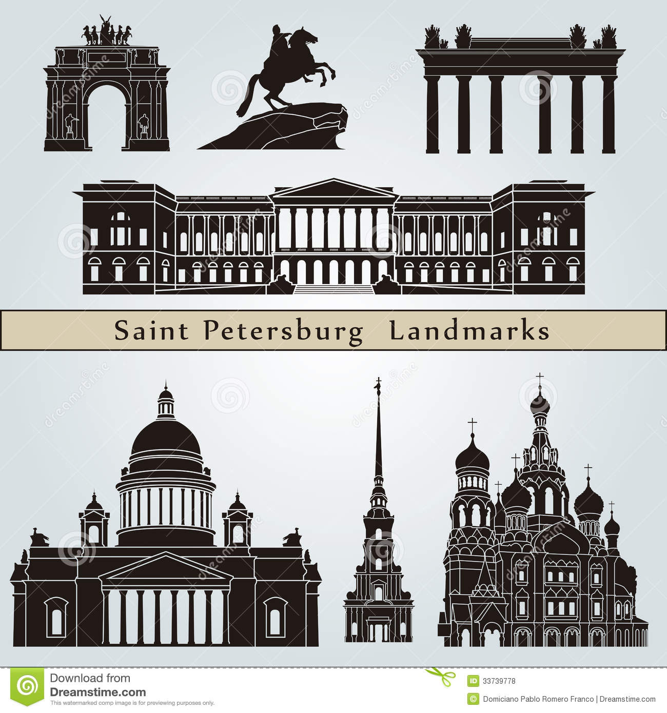 Petersburg Stock Illustrations.