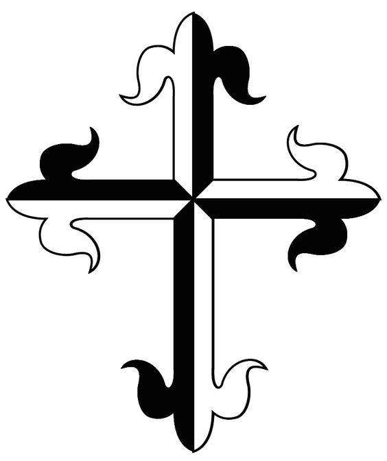 Dominican cross symbol. The Dominican Cross is a Gyronny Cross of.