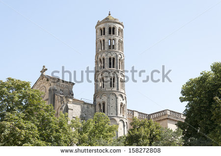 Uzes Cathedral Stock Photos, Images, & Pictures.