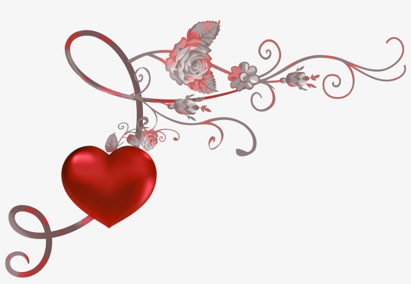 Red Heart Decor Png Picture Clipart.