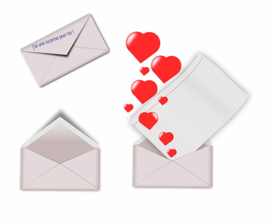 Envelope St Valentine Heart Enveloppe Saint Valentin.