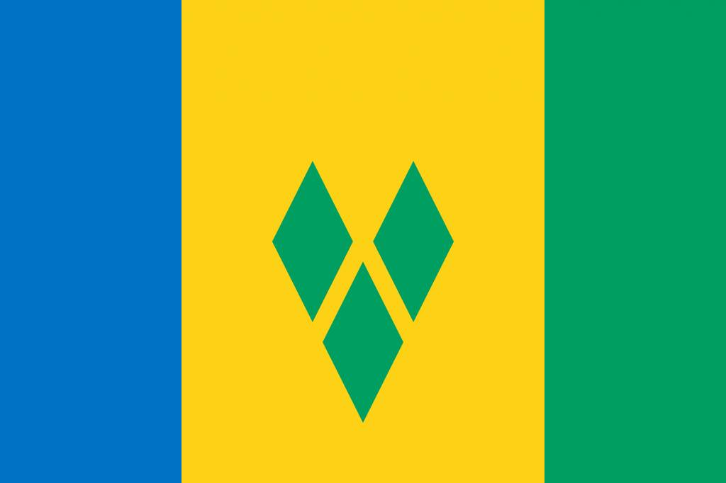 Saint Vincent and the Grenadines flag emoji.