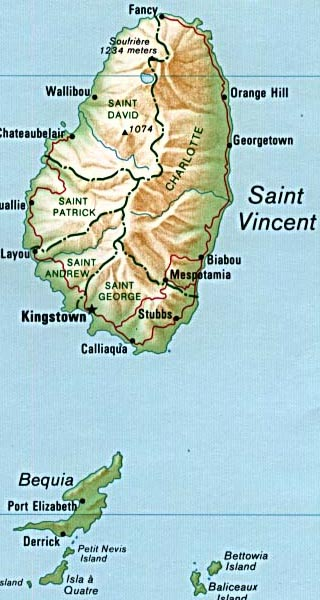 Saint Vincent And The Grenadines Clipart Clipground - Saint vincent and the grenadines map