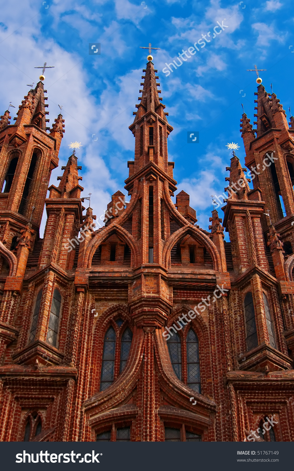 St Annes Church Vilnius Capital Lithuania Stock Photo 51767149.