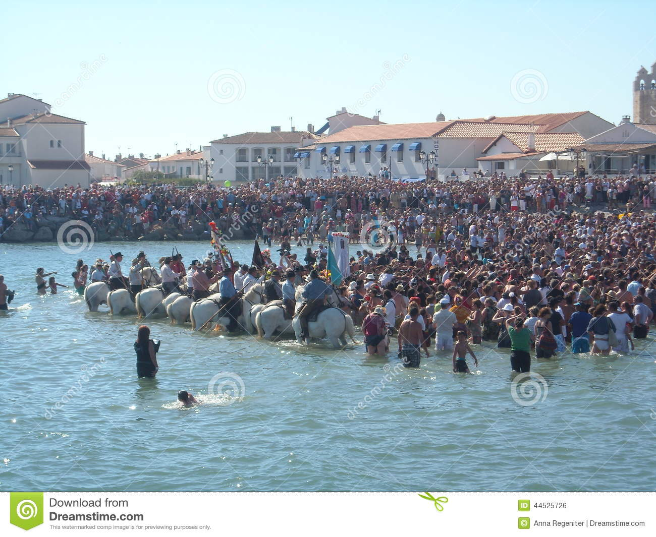 Blessing Of The Sea, Saintes Maries De La Mer, France Editorial.